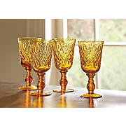 Set of 4 Teardrop Goblets