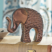 Metallic Elephant Figurine