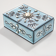 melinda jewelry box with faux gems