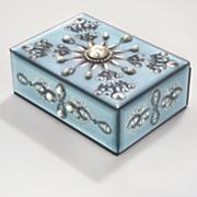 melinda jewelry box with faux gems