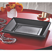 black and silver tray