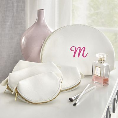 Personalized Set of 4 Nested Cosmetics Bags