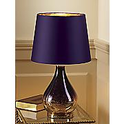 purple mercury glass lamp