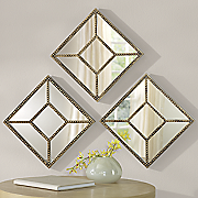 set of 3 abstract mirrors