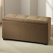 Button-Tufted Shoe Storage Bench