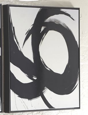 Black Swirl Canvas with Frame