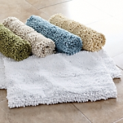 puff chenille 2 pc  bath mat set