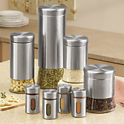 8 pc  canister and spice jar set