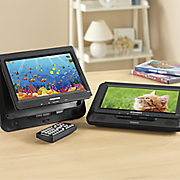9  dual screen dvd player by sylvania