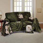 almohada y chantrell tejido tapiz muebles tiro