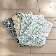 2 pc  barefoot shag bath mat set