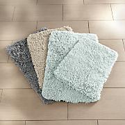 2 pc  barefoot shag bath mat set