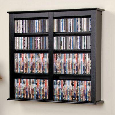 Easton Double Wall-Mounted Media Storage