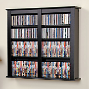 Easton Double Wall-Mounted Media Storage