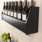 floating wine rack