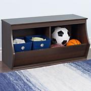 parker stackable 2 bin storage cubby