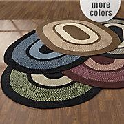 portland wool braid rug