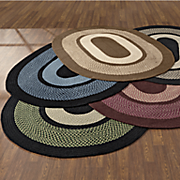portland wool braid rug