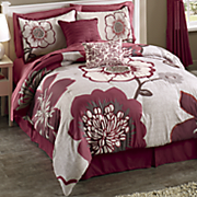 angelique 10 pc  bed set and window treatments