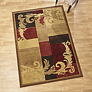 damask scroll rug