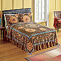 Rustic Harvest Woven Tapestry Coverlet