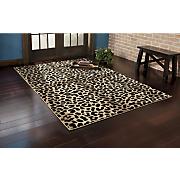 carved animal rug