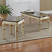 hand carved lillian faux marble tables