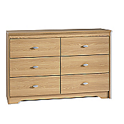 madison 6 drawer lowboy dresser