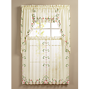 rosemary embroidered window treatments
