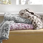floral embossed plush blanket