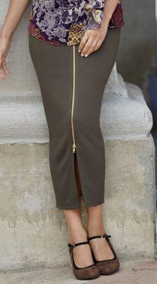 Zip Line Midi Skirt