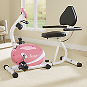 pink recumbent bike by sunny health   fitness