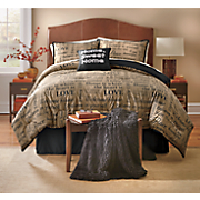 Home Sweet Home Comforter Set, Decorative Pillow and Window Treatments