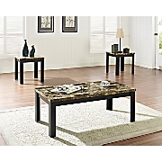 3-Piece Faux Marble Table Set