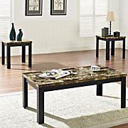 3 pc  faux marble table set