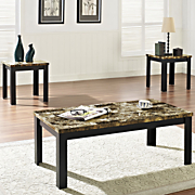 3 pc  faux marble table set