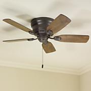 flush mount ceiling fan by hunter