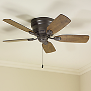 flush mount ceiling fan by hunter