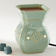 vintage turquoise candlewarmer