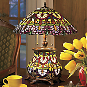 wisteria stained glass lamp 16