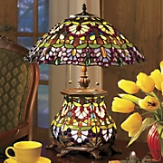 Wisteria Stained Glass Lamp
