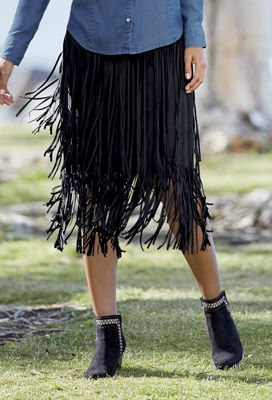 To The Max Fringe Skirt