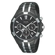 Seiko Men's Two-Tone Black Chrono Watch