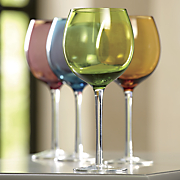 Set of 4 Colored Wine Glasses