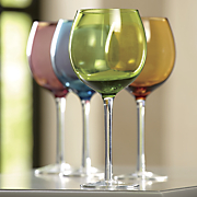 set of 4 colored wine glasses