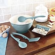 rachael ray 5 pc  cucina mixing bowl   tool set