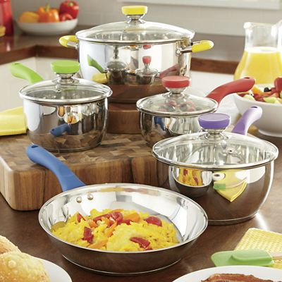 9-Piece Culinary Edge Stainless Steel Cookware Set