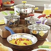 9 pc  culinary edge stainless steel cookware set