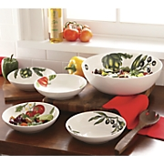 5 pc  pasta salad bowl set