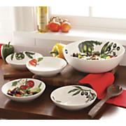 5 pc  pasta salad bowl set